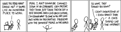 Working for Google, from xkcd.com