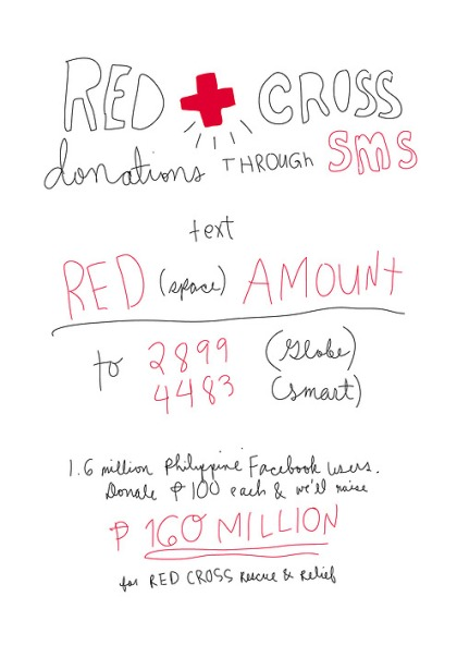 Donate to Red Cross using your cellphone load!