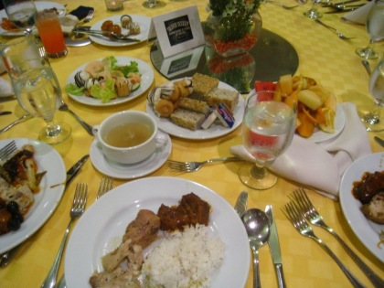 Plenty of good food was served at OrCom Silver